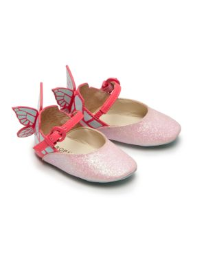 Baby's Chiara Mini Butterfly Glitter Mary Janes