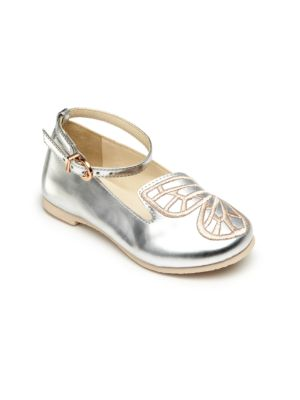 Baby's, Toddler's & Kid's Bibi Butterfly Mini Silver Shoes