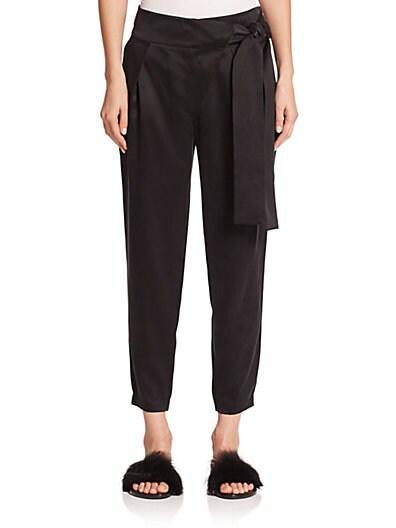 Tie-Detail Silk Pants $204.29 AT vintagedancer.com