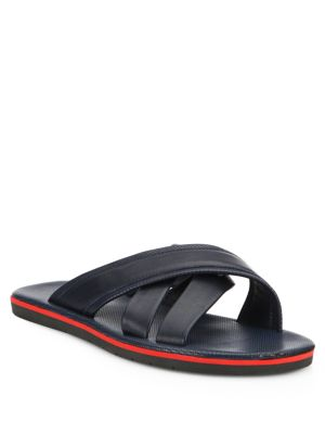 COLLECTION Cross-Strap Leather Sandals