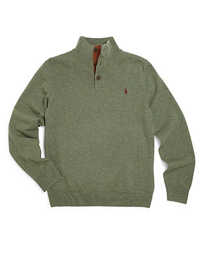 Boy's Merino Mock-Neck Sweater