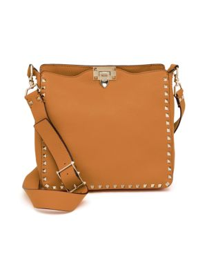Rockstud Utilitarian Small Leather Crossbody Bag