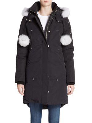 Stirling Fur-Trim Parka plus size,  plus size fashion plus size appare
