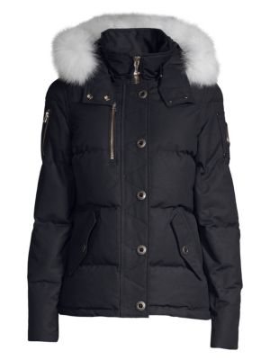 MOOSE KNUCKLES Fox Fur-Trimmed Hooded Parka