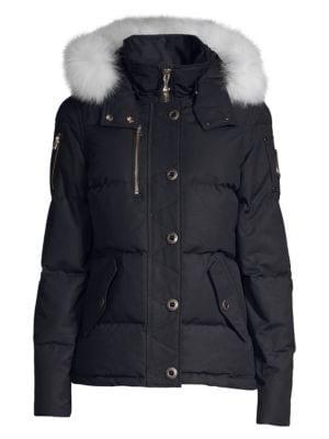 Fox Fur-Trimmed Hooded Parka