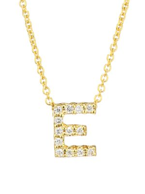 Tiny Treasures Diamond & 18K Yellow Gold Initial Necklace