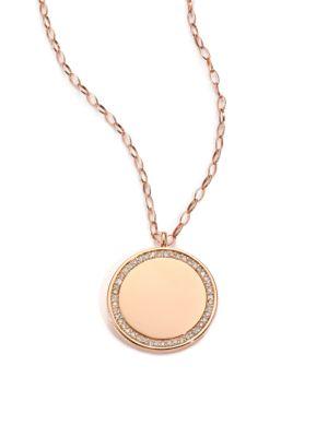 Cosmos Diamond & 14K Rose Gold Medium Locket Necklace