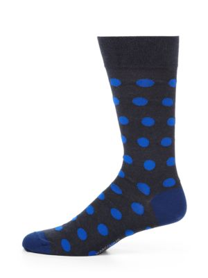 Polka Dot Cotton-Blend Socks