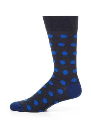 Polka Dot Cotton-Blend Socks