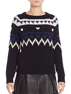 Burberry Brit - Wool & Cashmere Intarsia Sweater