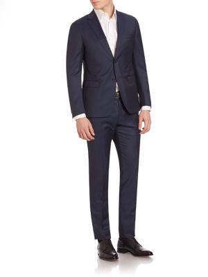 Navy Blue Mohair Blend Suit