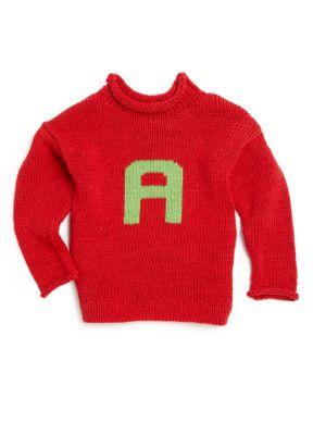 Personalized Babys, Toddlers & Childs Letter Sweater