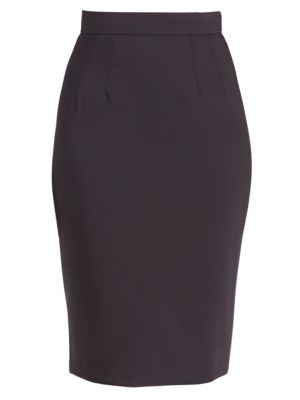 Stretch-Wool Pencil Skirt