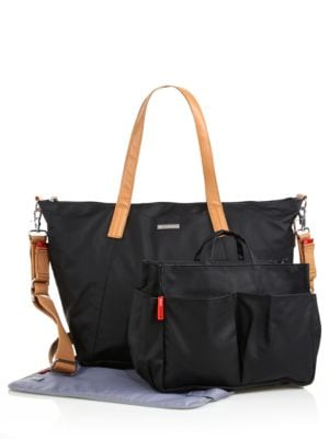 Noa Coated Canvas Diaper Bag with Organizer