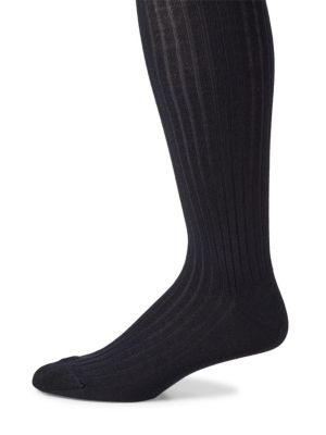 Ribbed Merino Wool Blend Socks