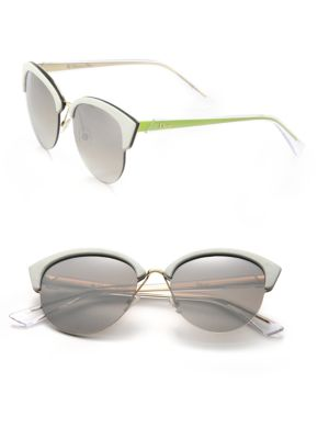 Clubmaster Round 65MM Metal Sunglasses