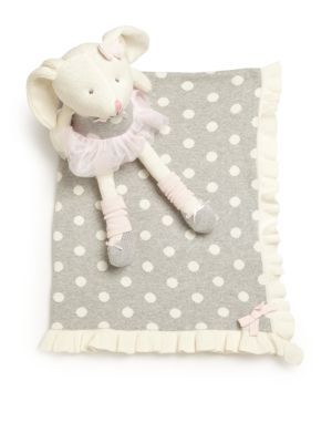 Baby's Two-Piece Knittie Bittie Blanket & Ballet Bunny Set