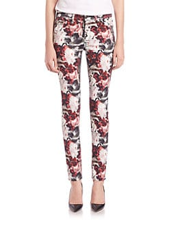 7 For All Mankind - Gallery Mid-Rise Floral-Print Skinny Jeans