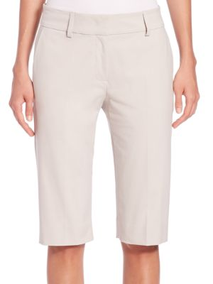 Stretch-Cotton Walking Shorts