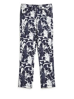 7 For All Mankind - Girl's Floral-Print Jeans