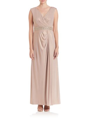 Jersey Draped-Front Gown