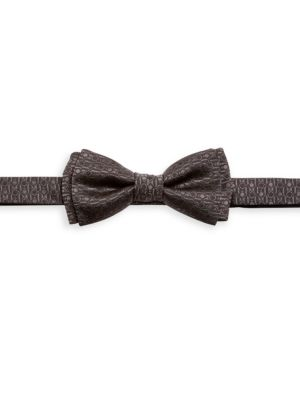 Geometric-Print Pre-Tied Bow Tie