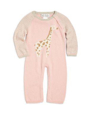 Baby's Cotton & Cashmere Cameron Giraffe Coverall