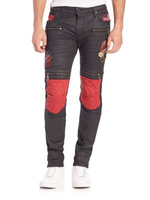 Slim-Fit Moto Style Pants