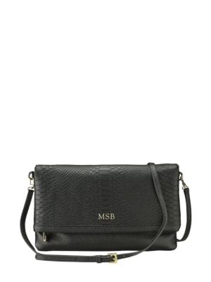 Personalized Carly Leather Convertible Clutch