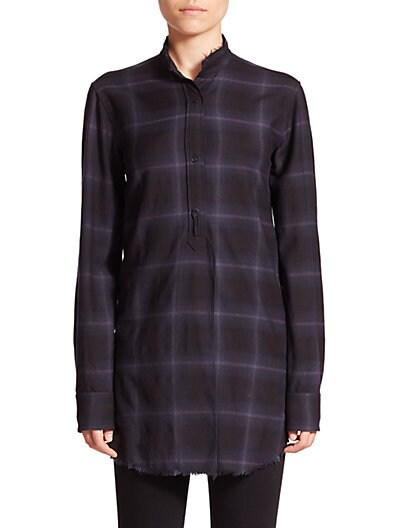 Flannel Placket-Tab Shirt