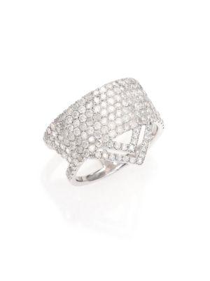 Pavé Diamond & 14K White Gold Ice Ring
