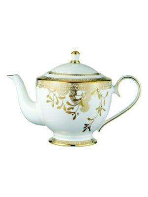 Golden Leaves Teapot