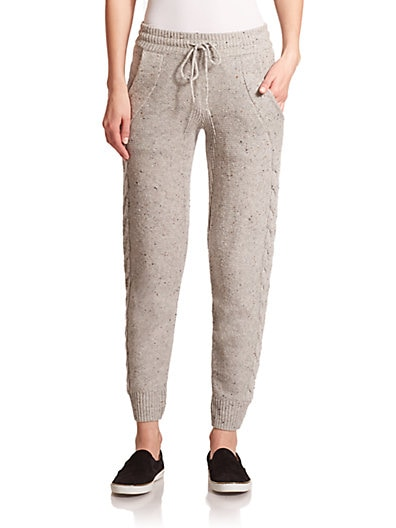 Corso Cable-Knit Jogger Pants