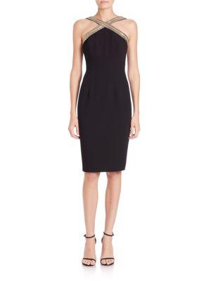 Buy Carmen Marc Valvo Beaded Halter Dress online with Australia wide shipping