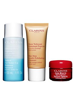 Receive a free 3-piece bonus gift with your $ Clarins purchase & code