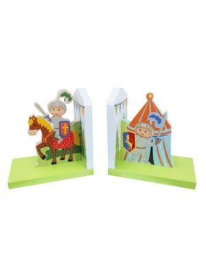 Knights & Dragons Bookends/Set Of 2