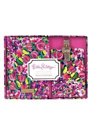 Wild Confetti Leatherette Passport Cover & Luggage Tag Set