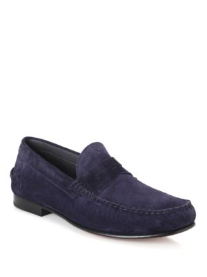 Cromwell Suede Penny Loafers