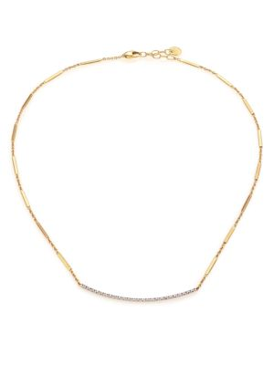 Goa Pavé Diamond, 18K Yellow Gold & 18K White Gold Necklace