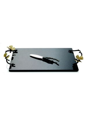 Two-Piece Butterfly Ginkgo Cheeseboard and Knife Set