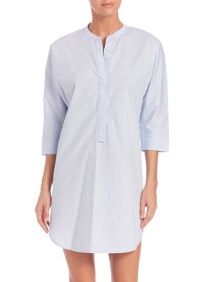 Woven Cotton Lounge Dress plus size,  plus size fashion plus size appare