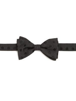Tonal Circle Pindot Bow Tie