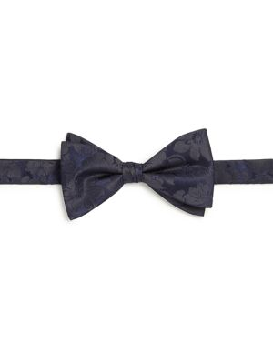 Tonal Flower Silk Bow Tie
