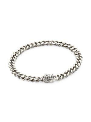 Classic Chain Sterling Silver Curb Link Medium Bracelet