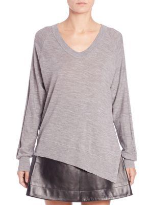 Asymmetrical Wool & Silk Sweater