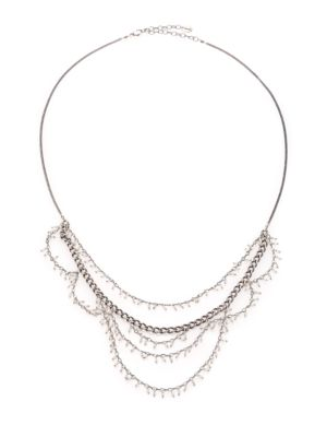Sterling Silver Tiered Bead Necklace