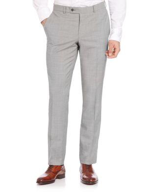 Modern Wool Check Pants