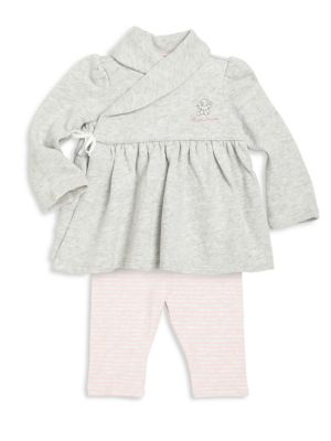 Baby's Two-Piece Wrap Top & Leggings Set