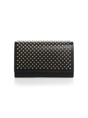 Paloma Convertible Spiked Leather Clutch