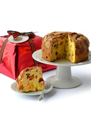 Wrapped Panettone Cake